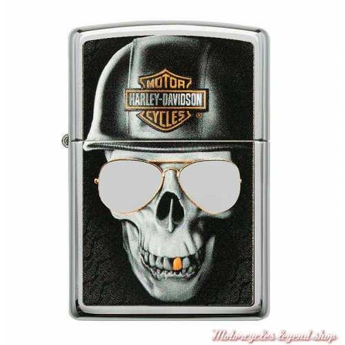 Zippo chrome Edgy Skull Harley-Davidson 60004323