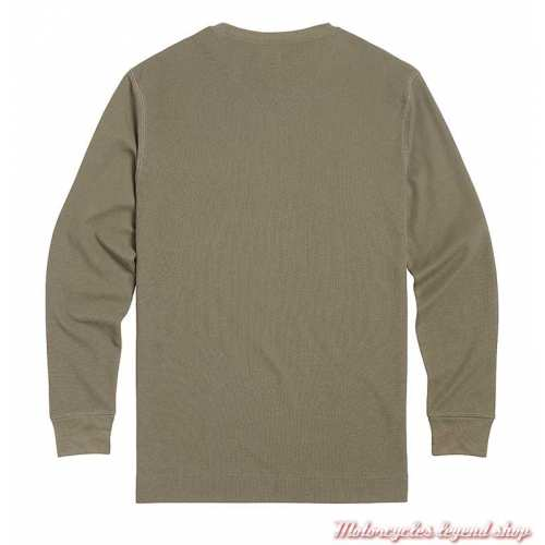 Tee-shirt Bettman Khaki homme Triumph, manches longues, coton, dos, MTLS21011