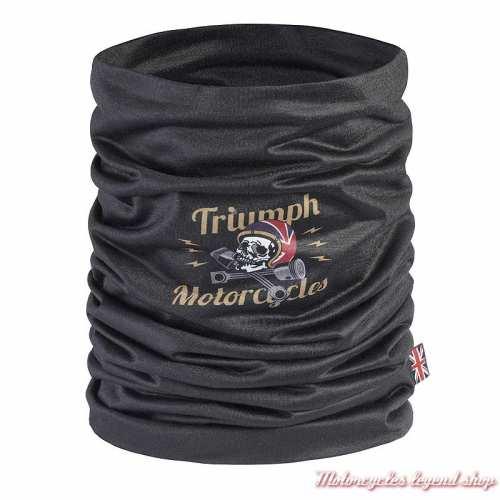 Tour de cou Woodford Triumphh, noir, tête de mort, polyester, MTUS21005