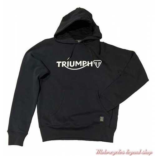 Sweatshirt à capuche Cartmel noir homme Triumph, noir, coton, MSWS20053