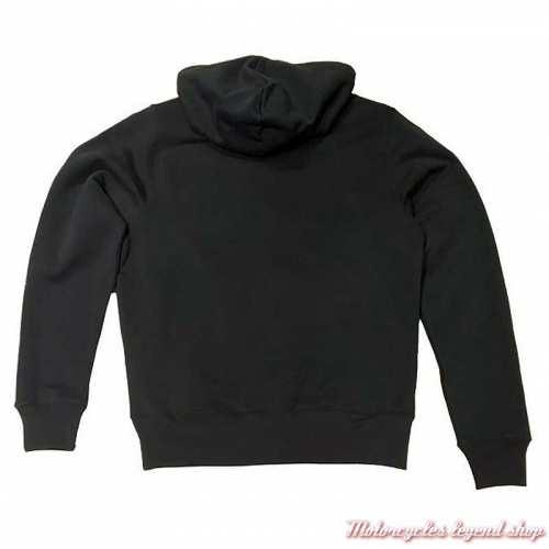 Sweatshirt à capuche Cartmel noir homme Triumph, noir, coton, dos, MSWS20053