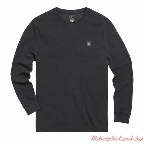 Tee-shirt Dean Black homme Triumph, coton nid d'abeille, manches longues, noir, MTLS21012