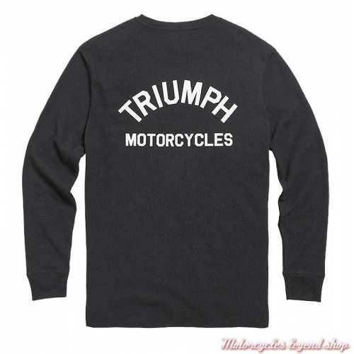 Tee-shirt Dean Black homme Triumph, coton nid d'abeille, manches longues, noir, dos, MTLS21012