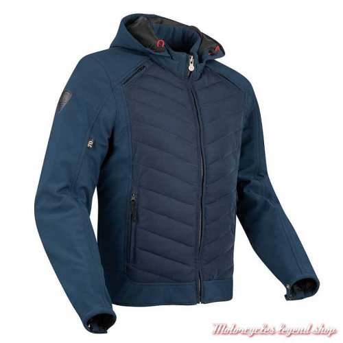 Blouson textile Natcho bleu Segura homme, capuche, waterproof, STB942