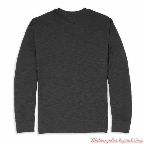 Tee-shirt Parts & Service Harley-Davidson homme, noir, manches longues, coton, dos, 96139-22VM