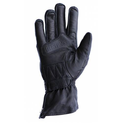 Gants cuir Titan d'hiver homme, noir, manchette 3/4, coque aux phalanges, Helston's