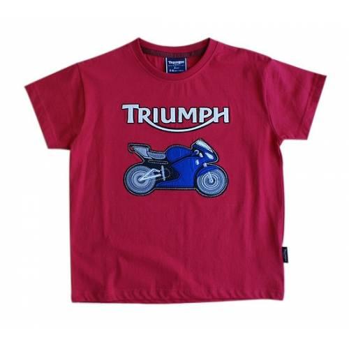 Tee-shirt Felt Bike, enfant, rouge, manches courtes, Daytona, Triumph