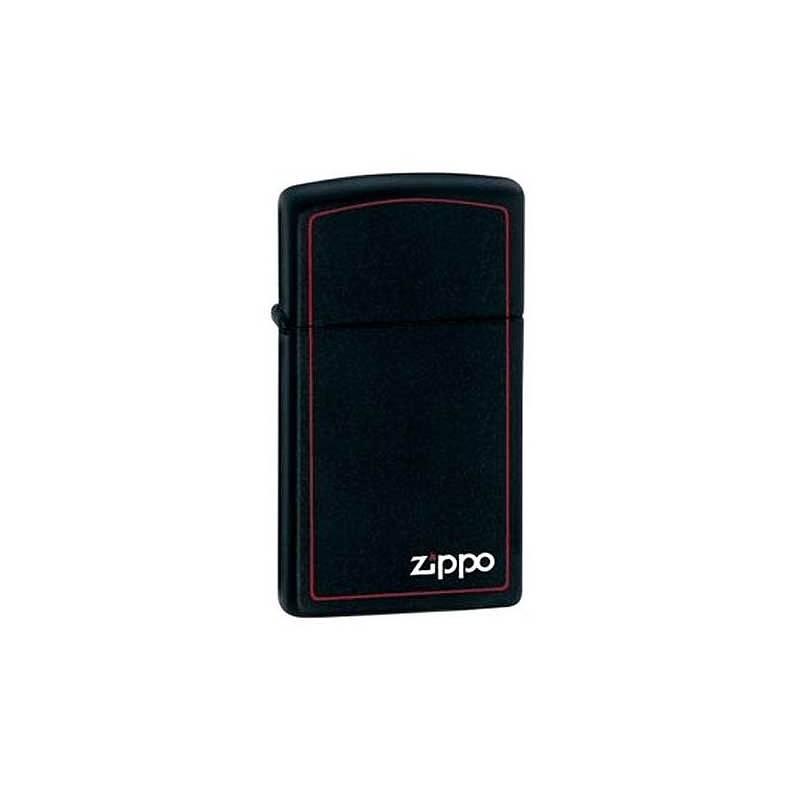 Zippo essence slim, métal, noir mat, liseré rouge Zippo 810620