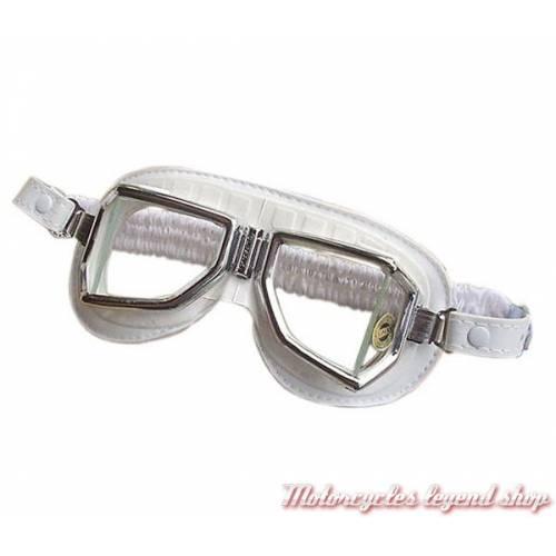 Lunettes Climax 513S, blanches, champ vision élargie, verres incassables