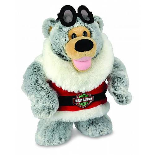 Peluche Holiday Rider, ours polaire, Noël, 40 cm, Harley-Davidson 20321