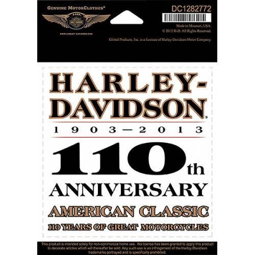 Sticker H-D 110th Anniversary