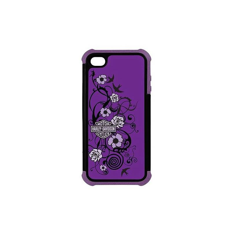 Coque iPhone 5 Purple tattoo, antichoc, Harley-Davidson 7458