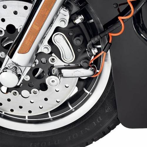 Bloque disque et cable de rappel chrome, finition miroir, Harley-Davidson 46086-98A