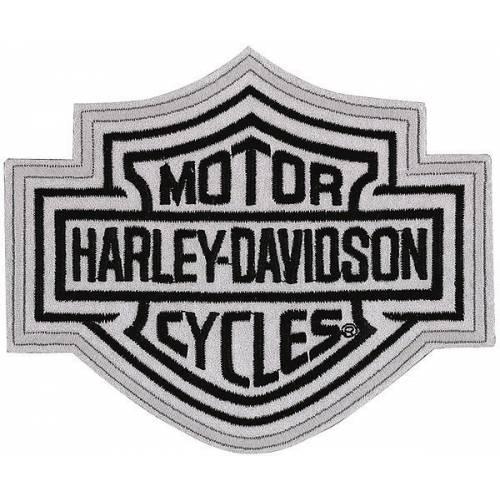 Patch Bar & Shield réfléchissant, brodé, grand modèle, Harley-Davidson EMN302883