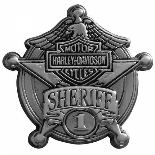 Pin's Etoile de Sherif Harley-Davidson