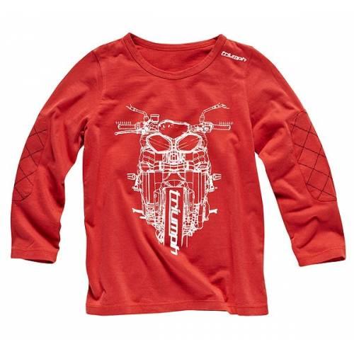 Tee-shirt Junior Script, enfant, rouge, manches longues, Triumph MJTA13147