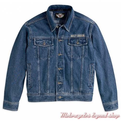 Veste en jean, homme, coton, bleu, Bar & Shield, Harley-Davidson 99040-08VM