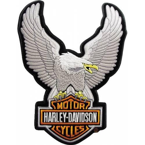 Patch Eagle Bar & Shield, brodé, petit modèle, Harley-Davidson EMB328062