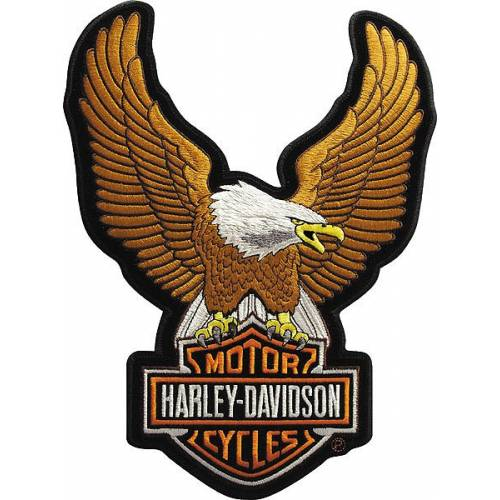 Patch Eagle Bar & Shield, brodé, petit modèle, Harley-Davidson EMB328392