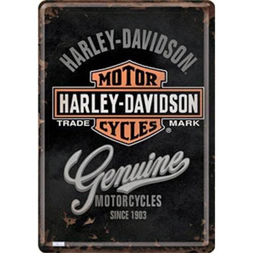 Carte postale métal H-D Genuine Harley-Davidson