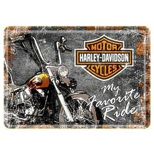 Carte postale métal H-D favorite ride Harley-Davidson
