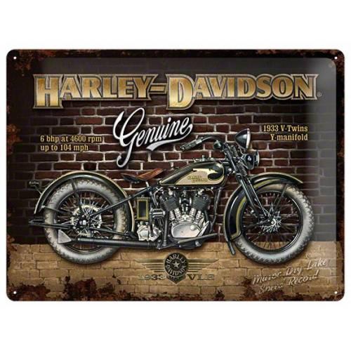 Plaque métal Harley-Davidson brick