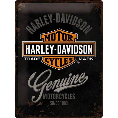 Plaque métal H-D Genuine Harley-Davidson