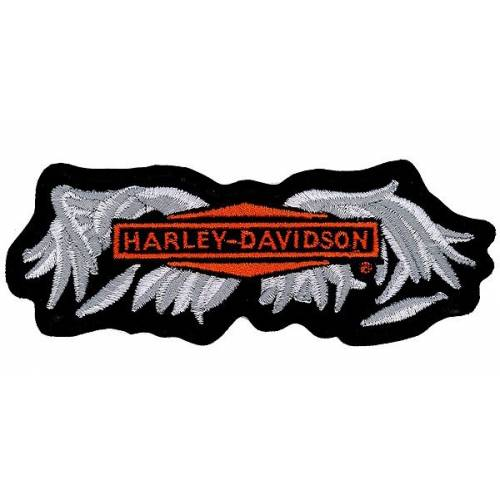 Patch Broken Wings, brodé, noir, gris, orange, Harley-Davidson EM330063