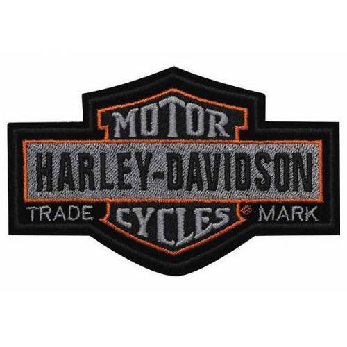 Patch Nostalgic Bar & Shield, vintage, brodé, grand modèle, Harley-Davidson EMB313754