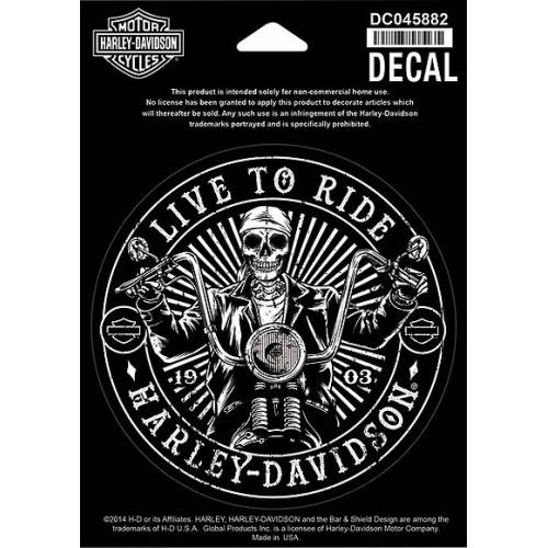 Sticker Rebel Skeleton, circulaire, Harley-Davidson DC045882