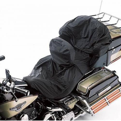 Housse de selle imperméable avec dosseret pilote, nylon, noir, Harley-Davidson 52952-97