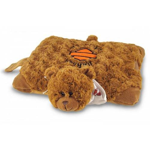 Peluche Coussin ourson Harley-Davidson