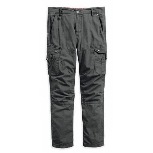 Pantalon Cargo Bar & Shield homme, coton, ripstop, gris, multi poches, Harley-Davidson 99026-15VM