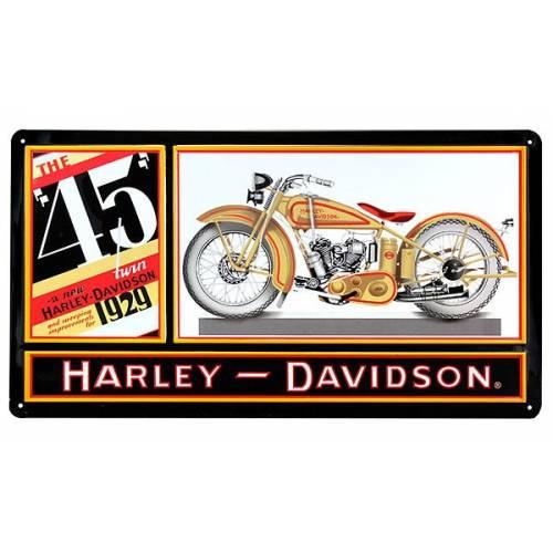Plaque métal H-D 45 Twin Harley-Davidson