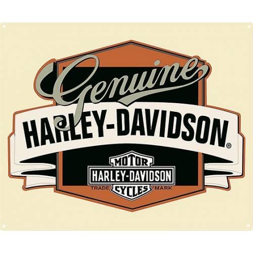 Plaque métal Genuine Banner Harley-Davidson