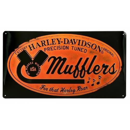 Plaque métal H-D Mufflers Road
