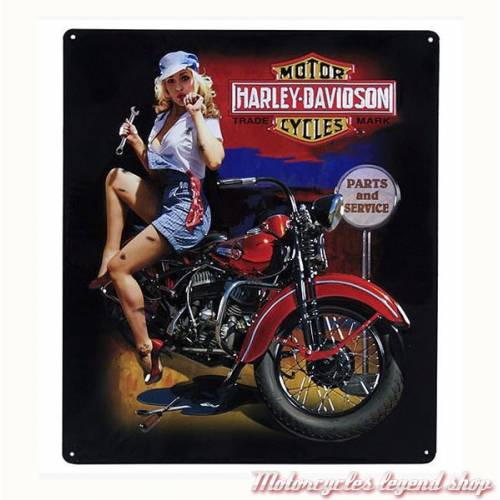 Plaque métal Fixer Up Babe Harley-Davidson