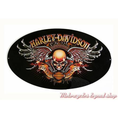 Plaque métal Biker to the Bone Harley-Davidson
