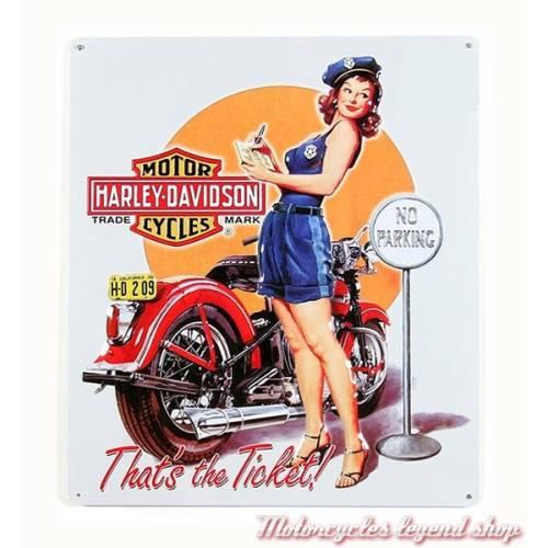 Plaque métal Ticket Babe Harley-Davidson