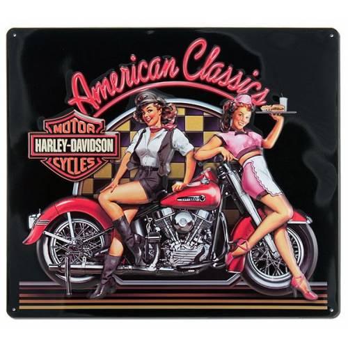 Plaque métal H-D American Classic Babe