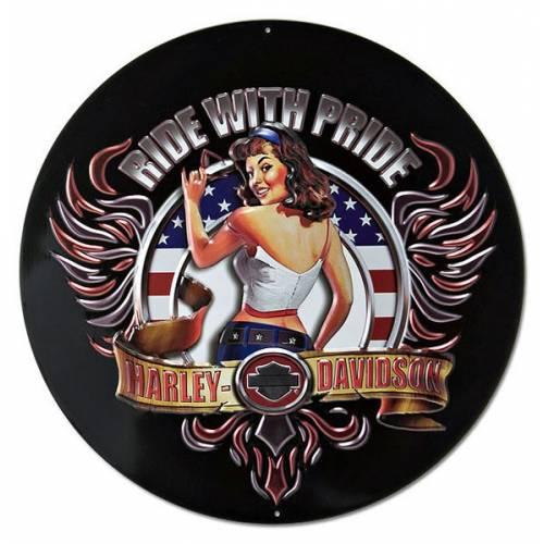 Plaque métal American Babe Harley-Davidson