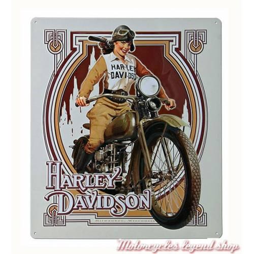 Plaque métal Nouveau Babe Harley-Davidson