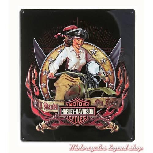 Plaque métal Pirate Babe Harley-Davidson