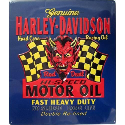 Plaque métal Red Hot Harley-Davidson
