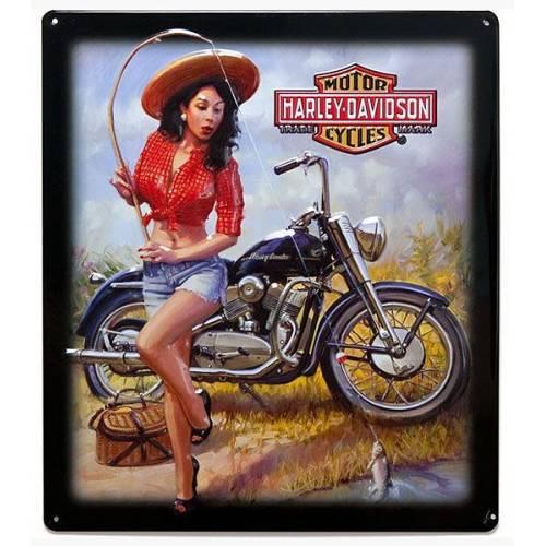 Plaque métal Nice Catch Babe Harley-Davidson