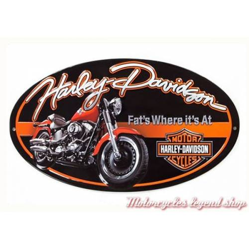 Plaque métal Fat Boy Oval Harley-Davidson