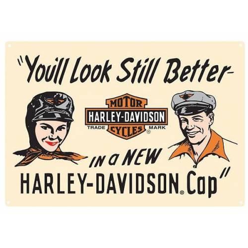Plaque métal Look Better Harley-Davidson