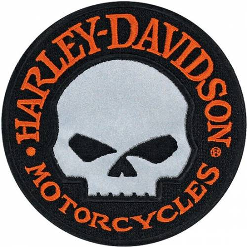 Patch HD Skull réfléchissant Harley-Davidson