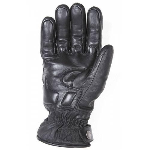 Gant cuir et tissus coton enduit, Vitesse Pro hiver homme, coque carbone, kevlar, Helston's