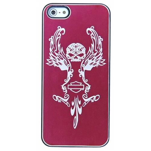 Coque iPhone 5/5S Skull Pink Silver Harley-Davidson
